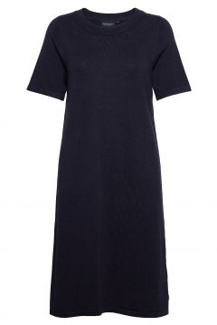 Amy Cotton/Bamboo Knitted Dress Kleid Knielang Blau LEXINGTON CLOTHING(121166564)