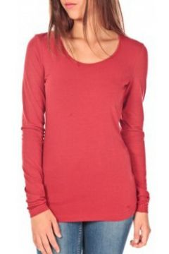 T-shirt Tom Tailor Lara Stretch Longsleeve Rouge(115471007)