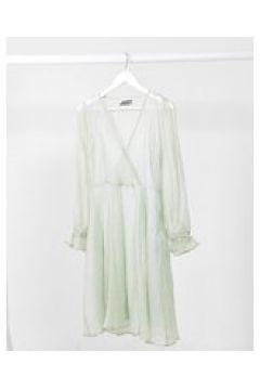 Just Female - Sanne - Vestito avvolgente e trasparente grigio(122781642)