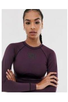 HIIT - Top a maniche lunghe e coppe scolpite viola(120381758)