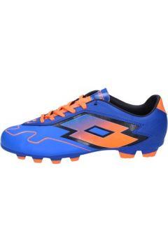 Chaussures de foot Lotto sneakers bleu cuir orange BT586(115442844)