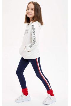 DeFacto Kız Çocuk Slim Fit Yanı Şerit Detaylı Tayt(119061544)