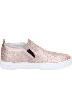 Chaussures London slip on mocassins rose paillettes cuir BT457(98484960)