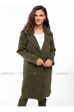 Khaki - Coat - DeFacto(110325568)