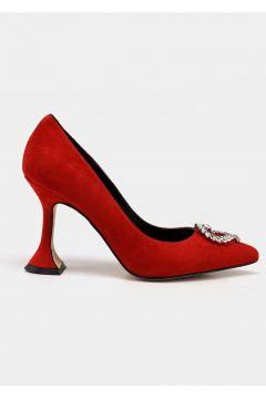Hotiç Hakiki Deri Kırmızı Kadın Stiletto(116823682)