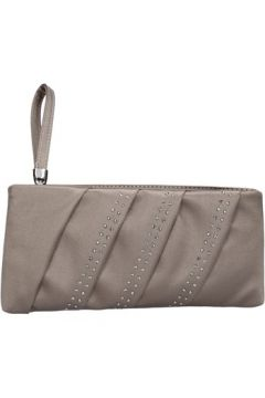 Pochette Made In Italia beige satin strass AB989(115545451)