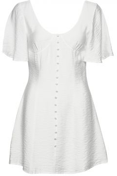 Button Up Corset Dress Kurzes Kleid Weiß IVYREVEL(114165260)