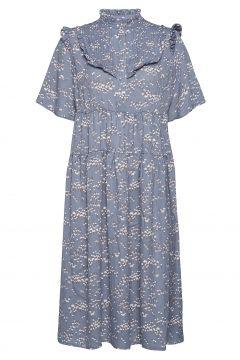 Darling Dress Kleid Knielang Blau LOLLYS LAUNDRY(118485449)