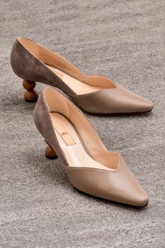 Elle Shoes ABIGALE Hakiki Deri Kadın Vizon Ayakkabı(121685532)