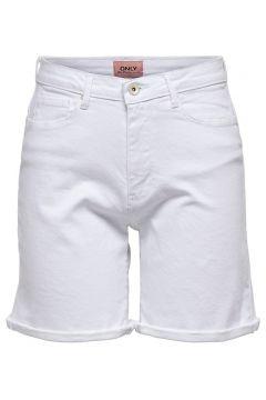 ONLY Onlpaola Hw Jeansshorts Damen White(116289808)