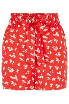 PIECES Print High Waist Shorts Damen Rot(111123118)