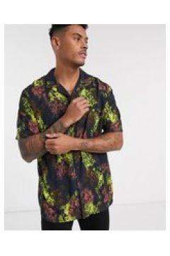 Pull&Bear - Camicia con stampa animalier fluo multi-Multicolore(124791078)