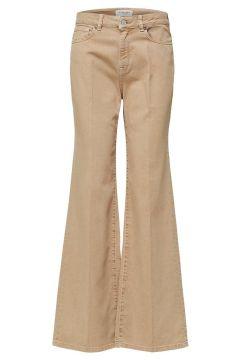 SELECTED Höga - Bootcut-jeans Kvinna Beige(109206050)