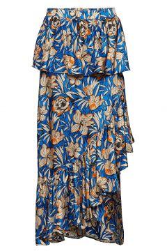 Ballon Skirt Knielanges Kleid Blau BIRGITTE HERSKIND(114163072)
