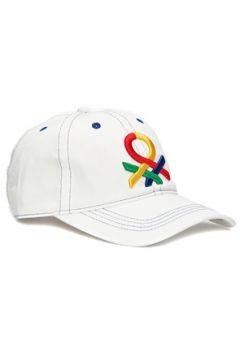 Benetton Erkek Beyaz Logo Nakışlı Şapka EU(116595508)