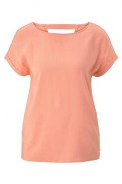 TOM TAILOR DENIM Damen Kurzarm-Tunikabluse mit Rückendetail, orange, Gr.XL(116472749)