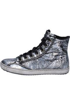 Chaussures Cult sneakers noir cuir argent AK795(115458081)