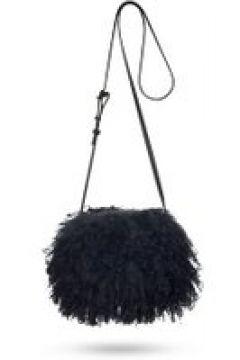 UGG Mongolian Pom Pom Sac Bandoulière pour Femmes en Black | Shearling(112238724)