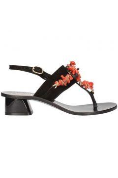 Sandales Siano Via Roma 309 flops Femme Noir(127889996)