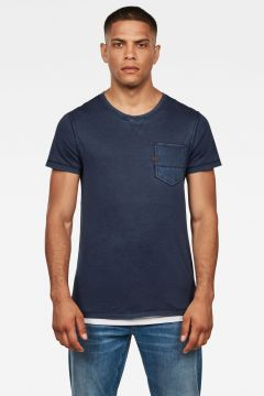 G-Star RAW Men Muon Pocket T-Shirt Dark blue(117926993)