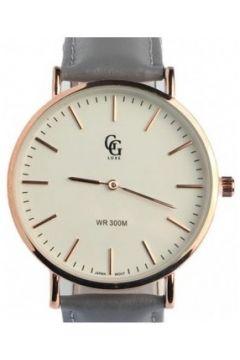 Montre Gg Luxe Montre Bracelet Cuir Gris cadran dore Nelson(88495502)