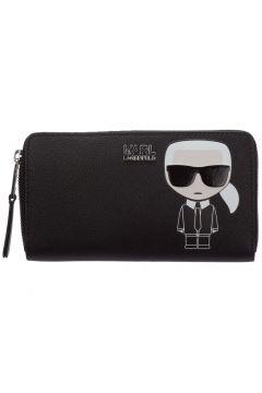Women's wallet leather coin case holder purse card bifold k/ikonik(116881799)
