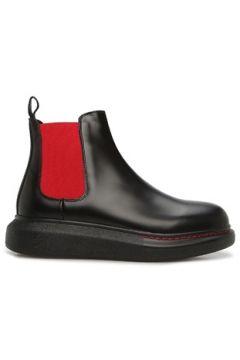 Alexander McQueen Kadın Chelsea Kırmızı Siyah Deri Bot 36 EU(126665165)