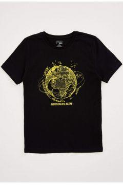 DeFacto Erkek Çocuk Güvende Kal Bisiklet Yaka T-shirt(119065100)