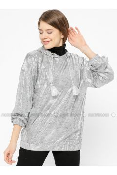 Silver tone - Sweat-shirt - İkoll(110319979)