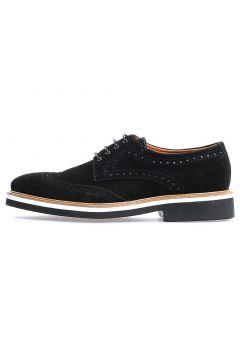 Flower Siyah Süet Bağcıklı Klasik Erkek Ayakkabı(118290057)