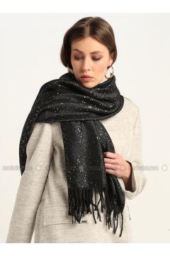 Black - Printed - Shawl Wrap - GINA LOREN(110335071)