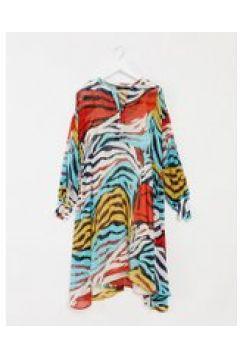 Soaked In Luxury - Vestito midi con stampa animalier-Multicolore(120330454)