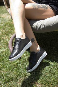 Ayakkabı Modası Siyah Beyaz Kadın Spor Ayakkabı(124695628)