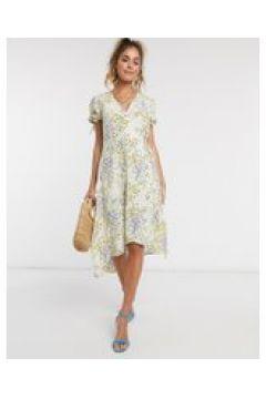 Pimkie - Vestito a portafoglio a fiorellini-Multicolore(120324365)