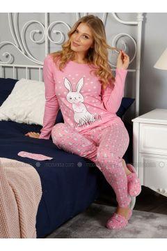 Pink - Crew neck - Multi - Pyjama - Elitol(110328417)