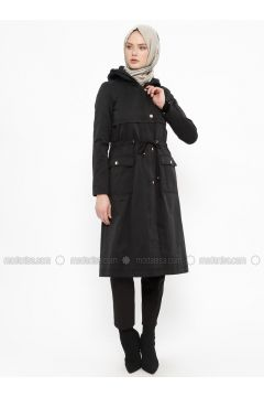 Black - Fully Lined - Coat - Tekbir(110335699)