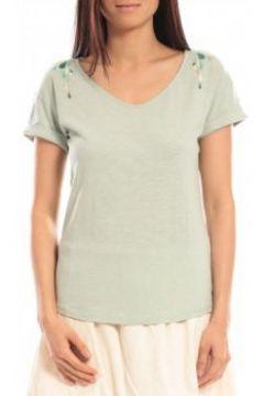 T-shirt Blune T-shirt Larmes de Joie LJ-TF01E13 Vert(98750979)
