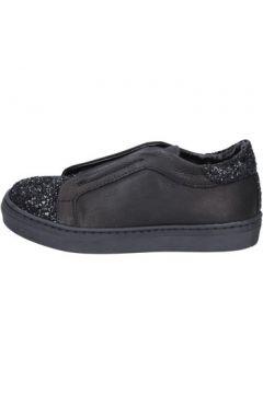 Chaussures enfant Holalà sneakers noir cuir glitter BT357(115442803)