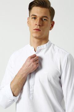 Bad Bear Hakim Yaka Beyaz Gömlek(113979636)