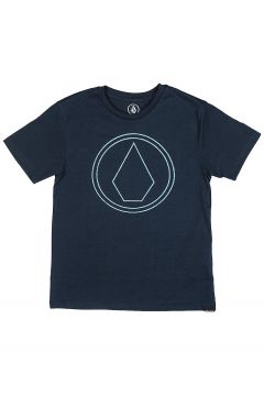 Volcom Pin Stone Heather T-Shirt blauw(85188197)