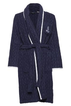 Lrl Cable Terry Shawl Collar Robe Bademantel Blau LAUREN RALPH LAUREN HOMEWEAR(109112156)