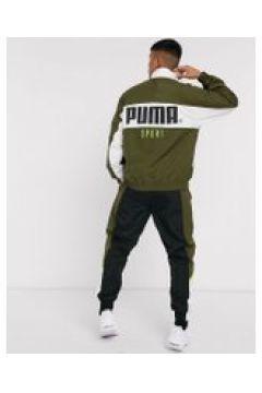 Puma - TFS - Giacca sportiva kaki-Verde(120239691)