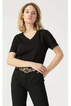 Beymen Studio V Yaka Siyah T-Shirt(122708423)