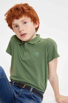 DeFacto Erkek Çocuk Yakası Çizgili Polo T-shirt(119057930)