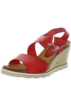 Sandales Marila Talons compensés en cuir ref_neox43586-carmin(128013185)