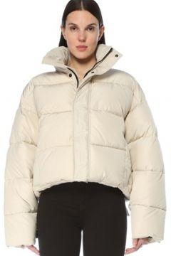 Balenciaga Kadın BB Beyaz Dik Yaka Oversized Puff Mont 36 IT(127770277)