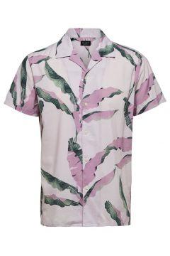 SELECTED Imprimé Botanique - Chemise À Manches Courtes Men Pink; White(111090053)