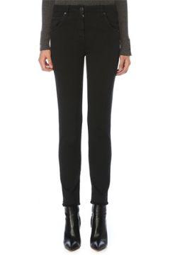 Brunello Cucinelli Kadın Slim Fit Siyah Normal Bel Püsküllü Jean Pantolon 36 IT(119153496)