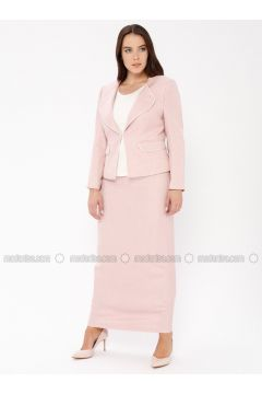 Salmon - Shawl Collar - Fully Lined - Plus Size Evening Suit - Güzey(110337580)