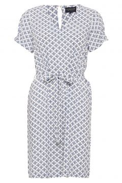 Kristina Blue Flower Dress Kurzes Kleid Weiß LEXINGTON CLOTHING(117937340)